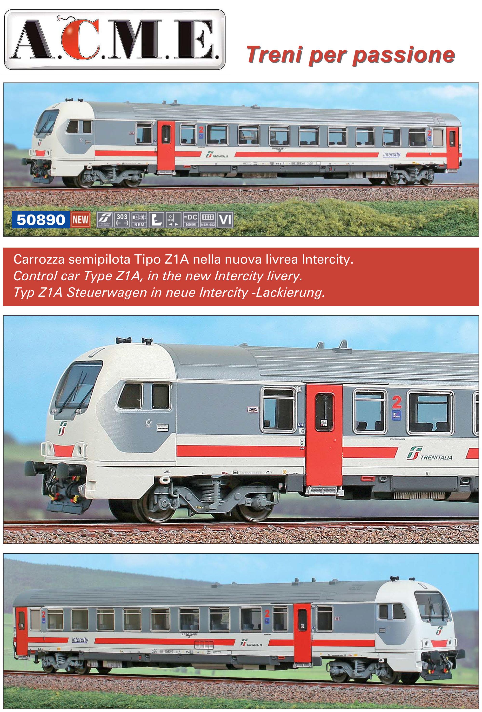 A.C.M.E - Trenitalia - Z1A control car (Intercity livery)