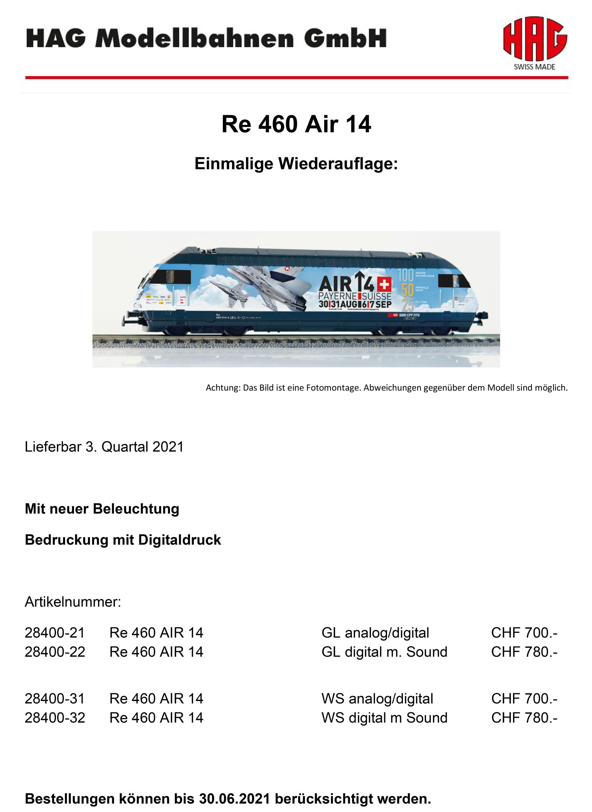 HAG - SBB CFF FFS - Re 460