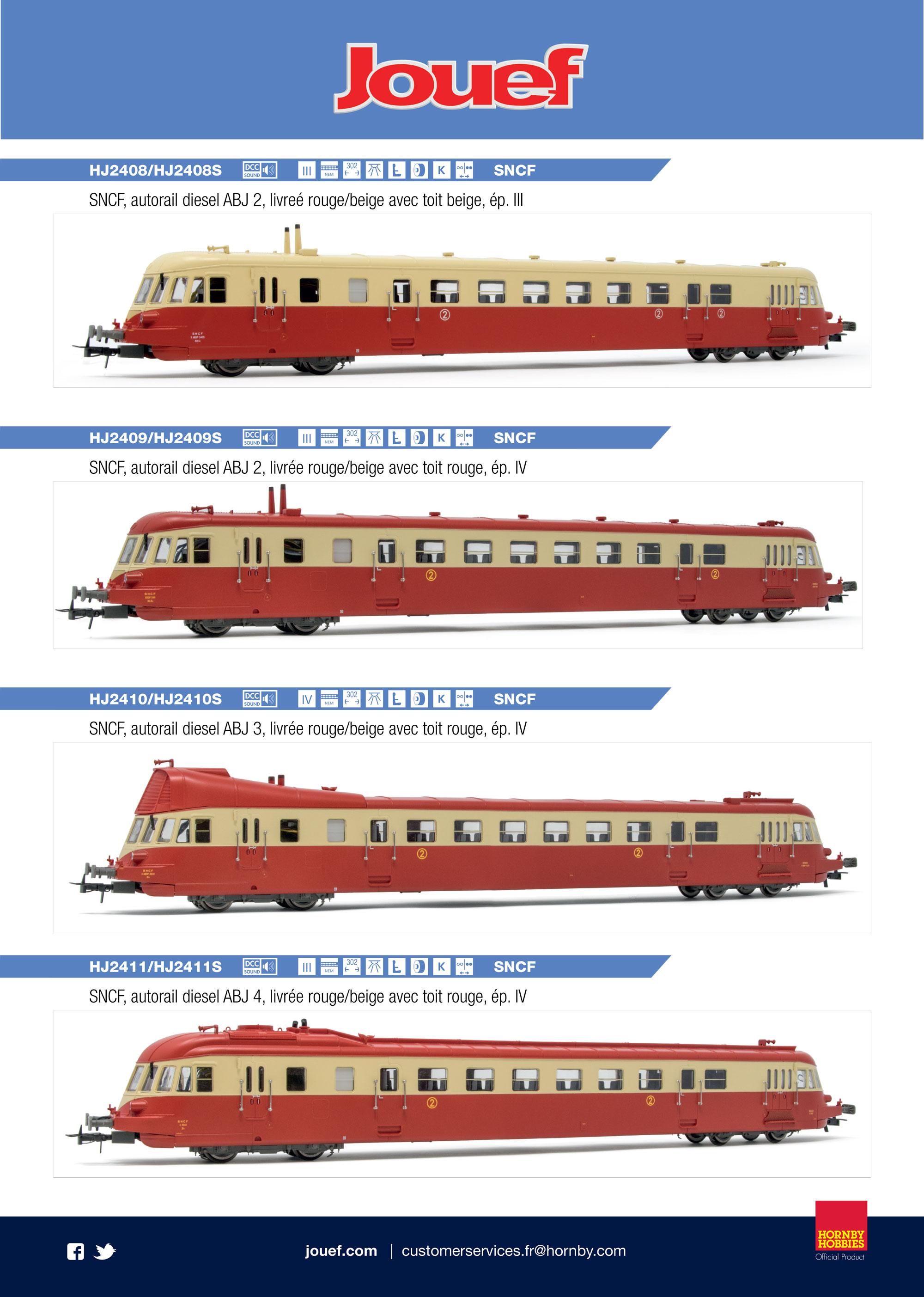 Jouef - Railcars ABJ 2, ABJ 3 & ABJ 4
