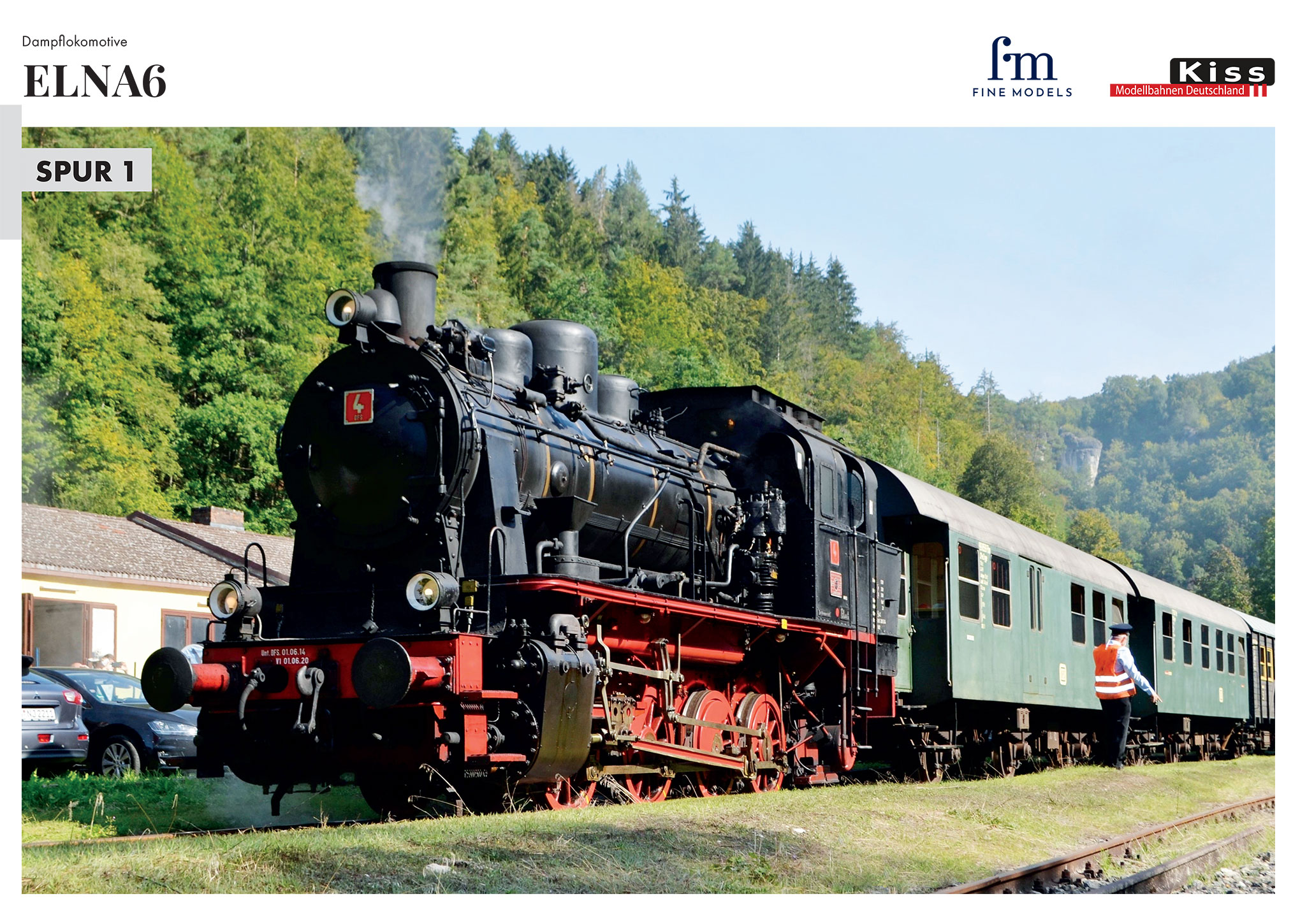 Kiss Modellbahnen Deutschland - ELNA6 steam locomotive