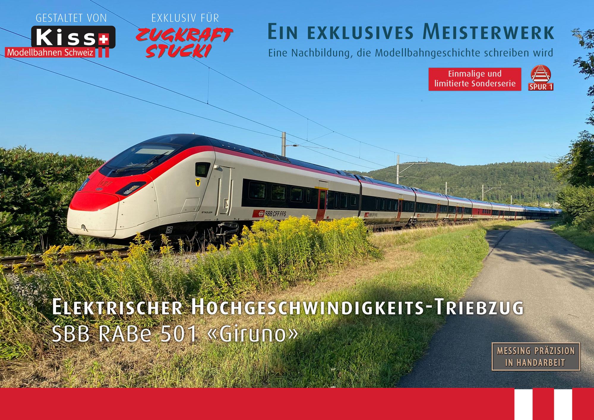 Kiss Modellbahnen Schweiz - SBB CFF FFS - RABe 501
