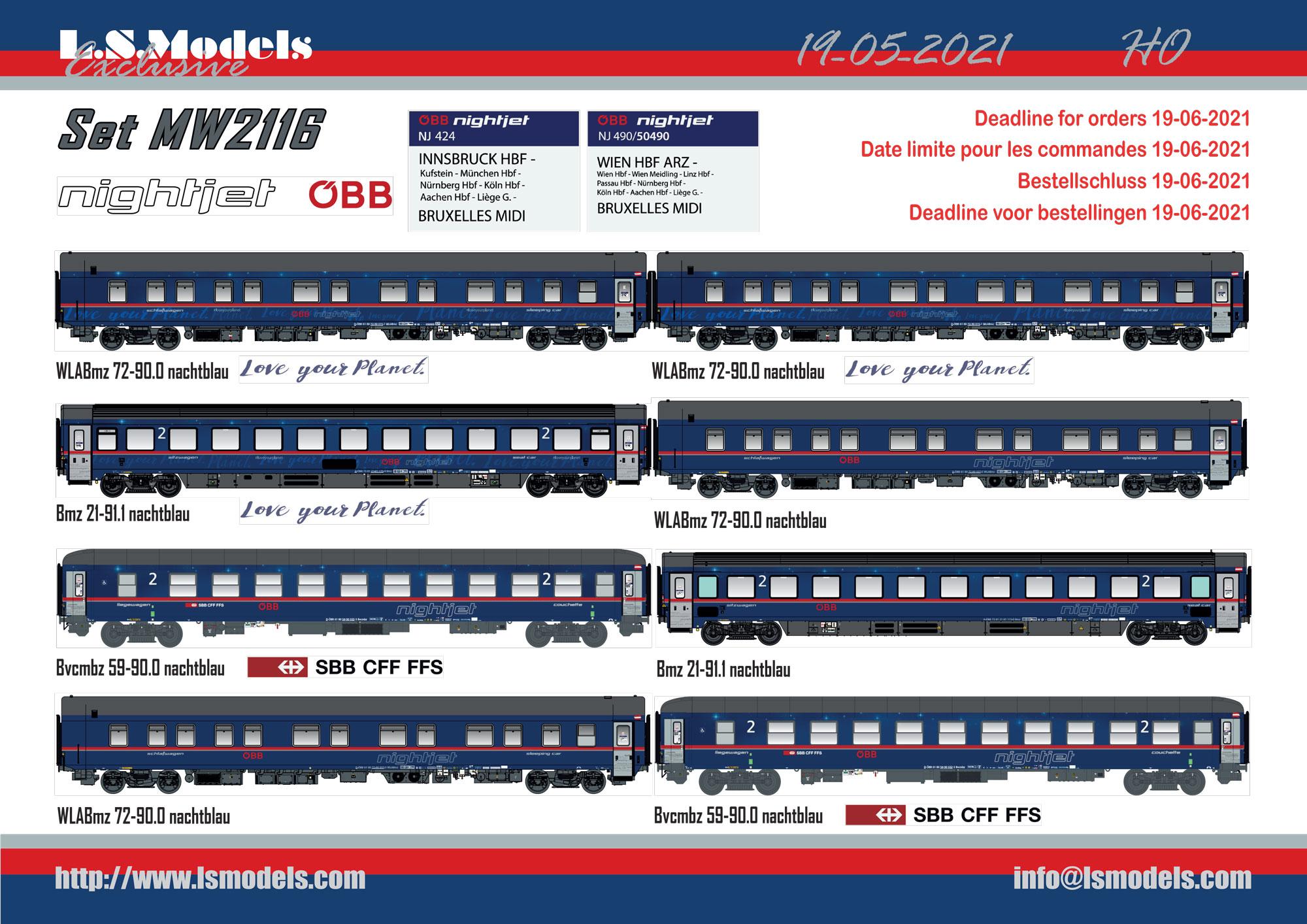 LS Models - ÖBB / SBB CFF FFS - Nightjet