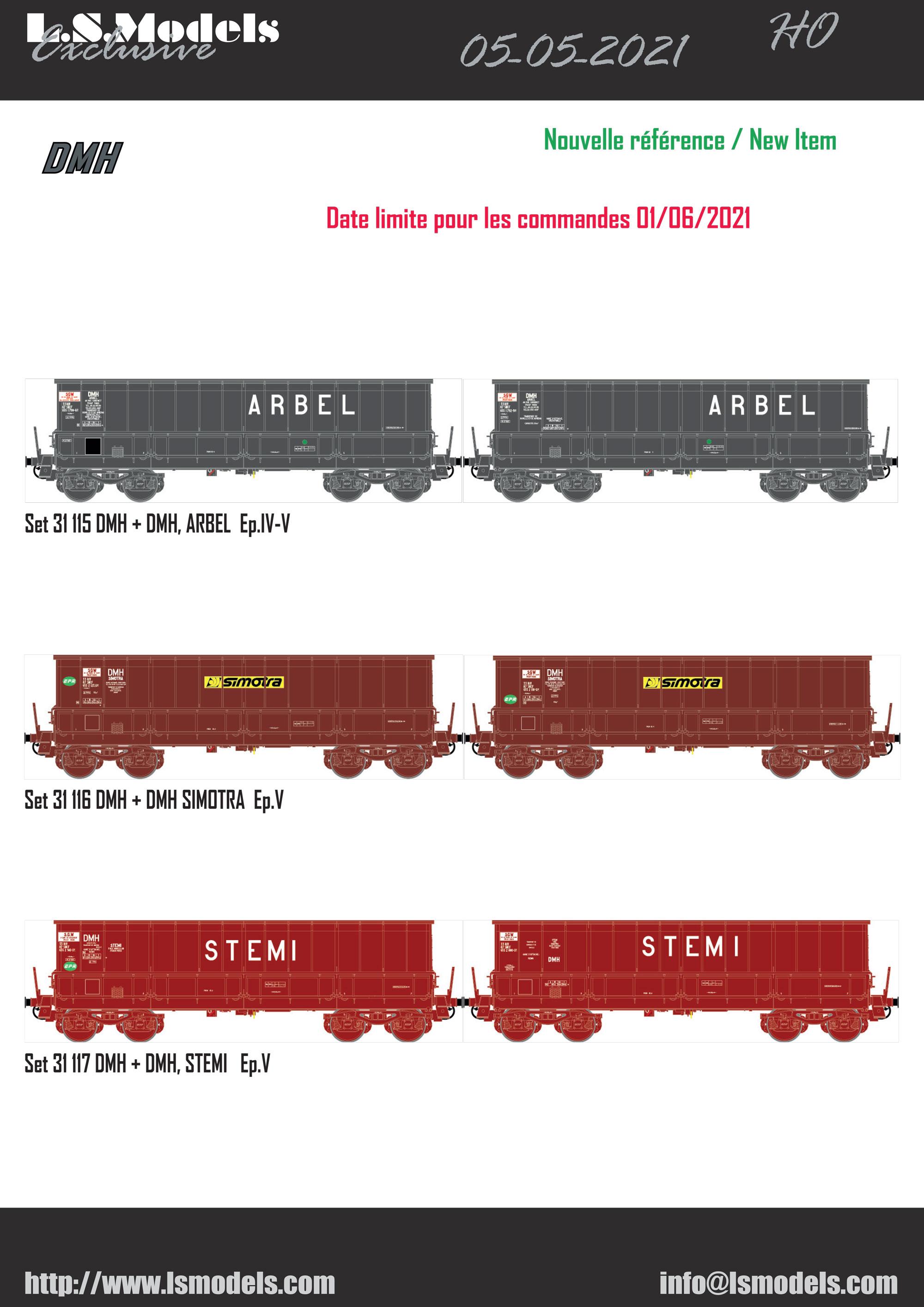 LS Models - DC, DM & DMH freight wagons