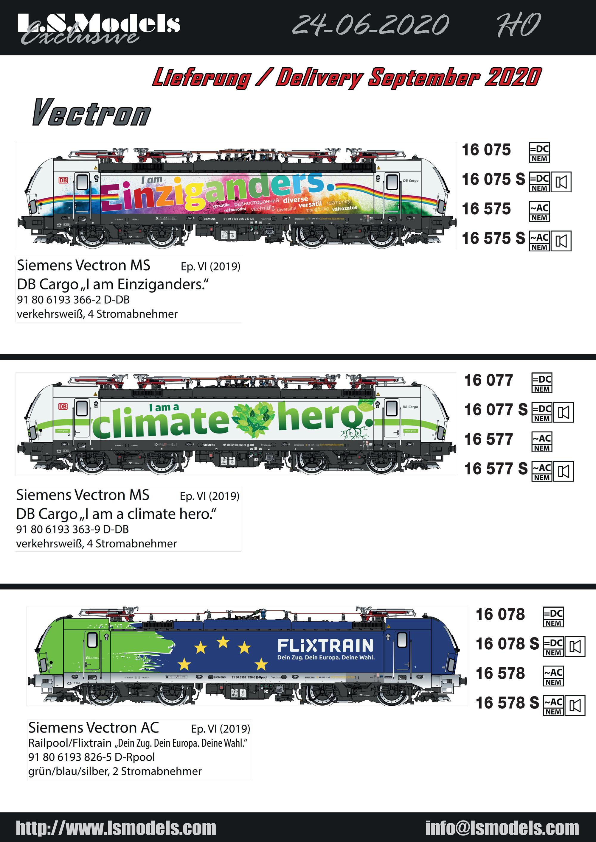LS Models - Siemens Vectron