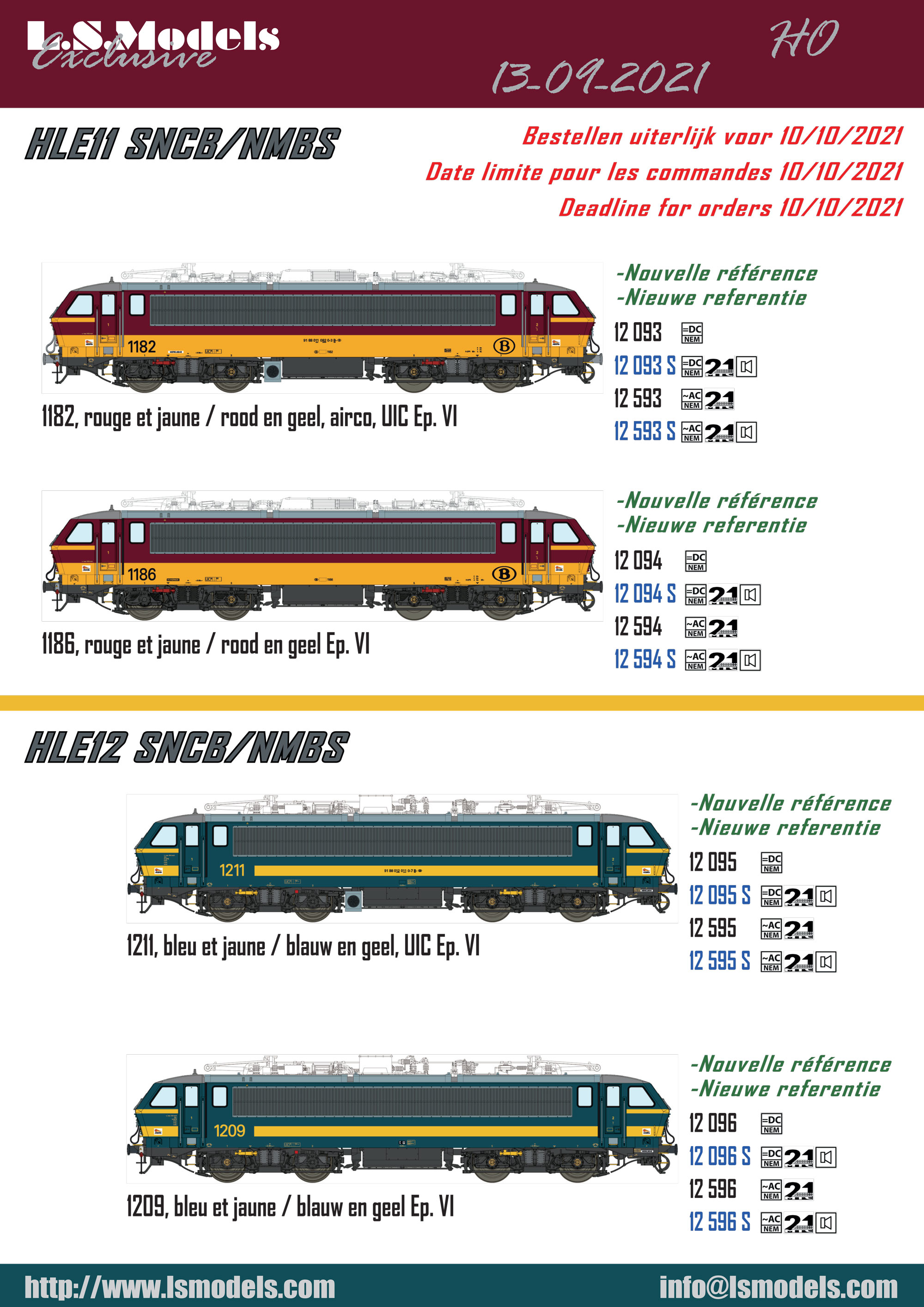 LS Models - SNCB - HLE electric locomotives