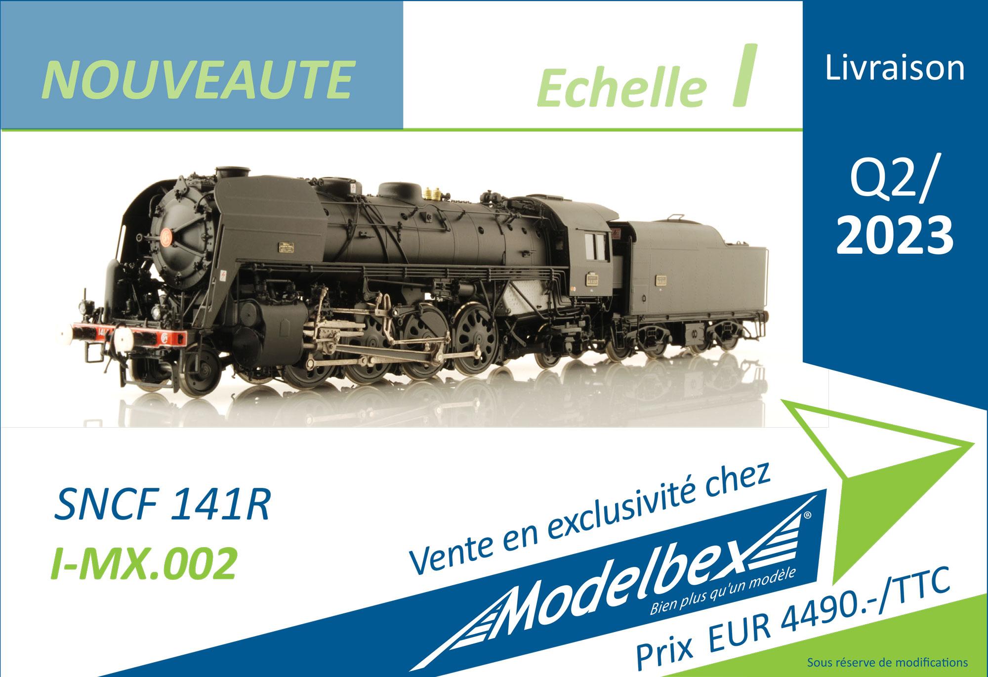 Modelbex - SNCF - 141R steam locomotive
