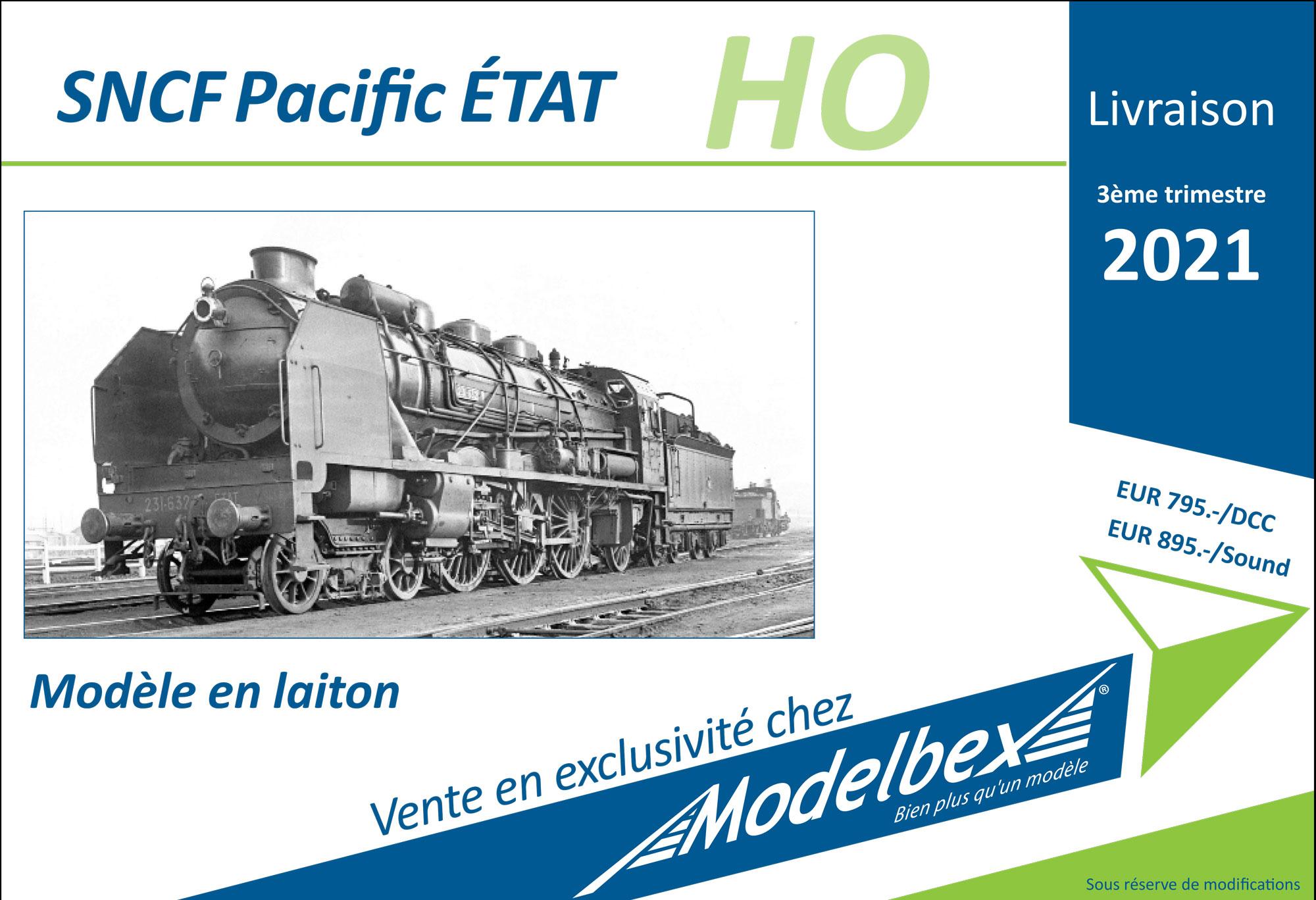Modelbex - SNCF - Pacific steam locomotive