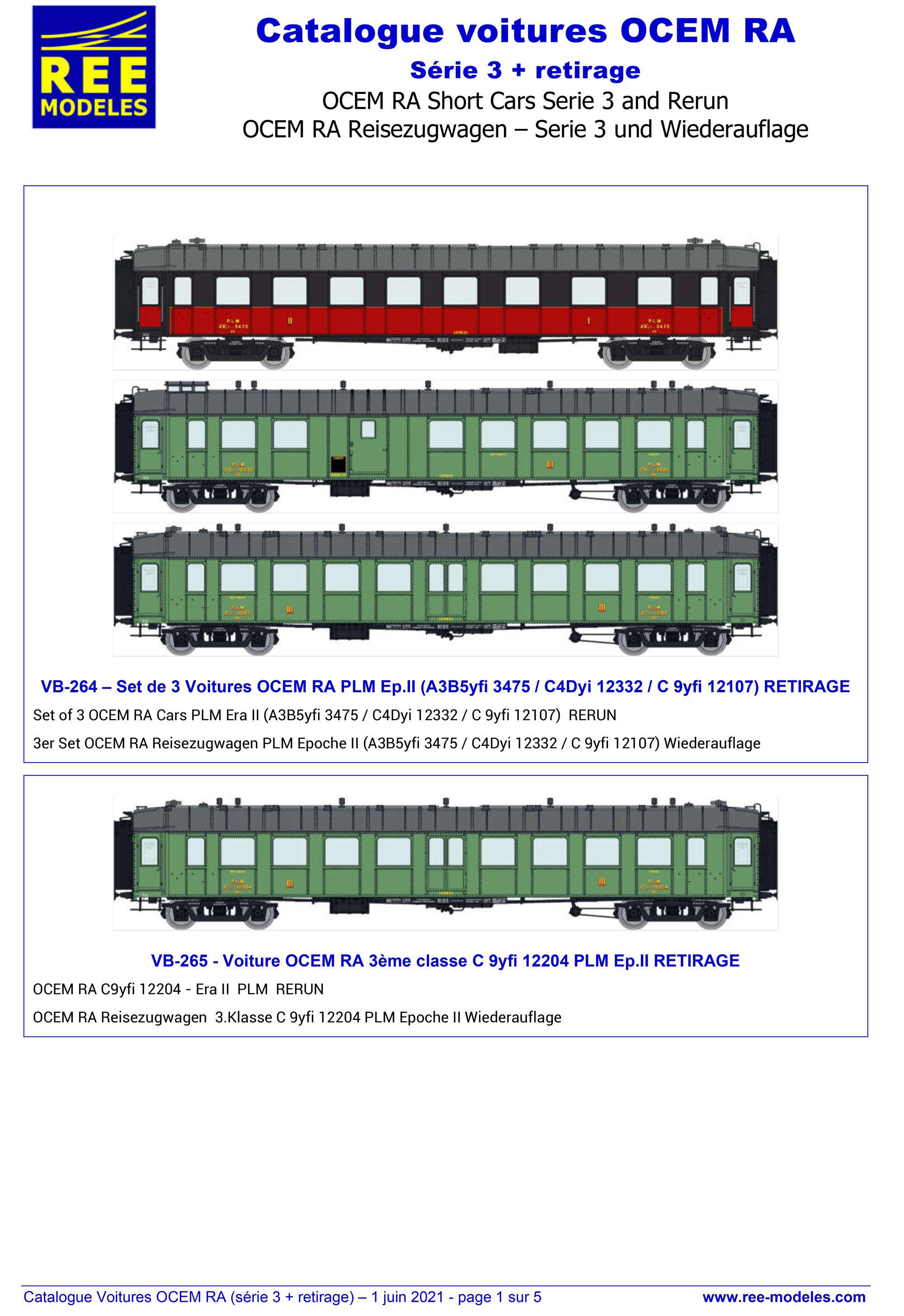 Rails Europ Express - OCEM RA passenger coaches (3rd series & rerun)
