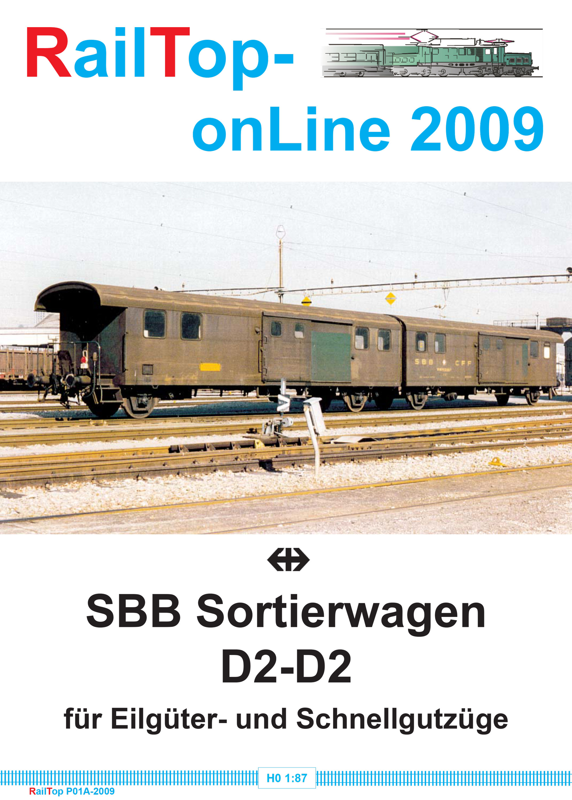 RailTop - SBB CFF FFS - D2-D2 parcel-sorting wagon