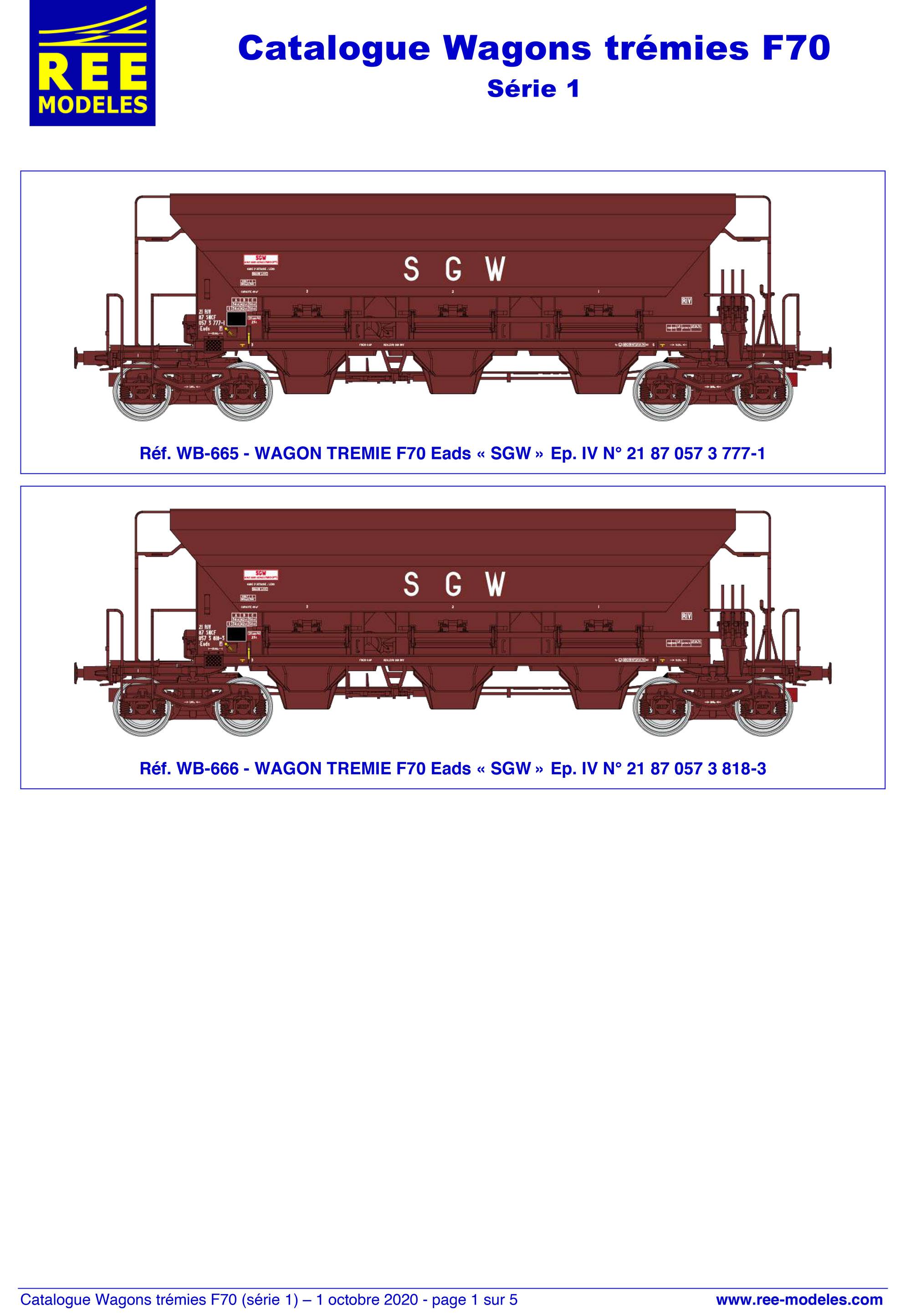 Rails Europ Express - F70 Eads / Facs freight wagons
