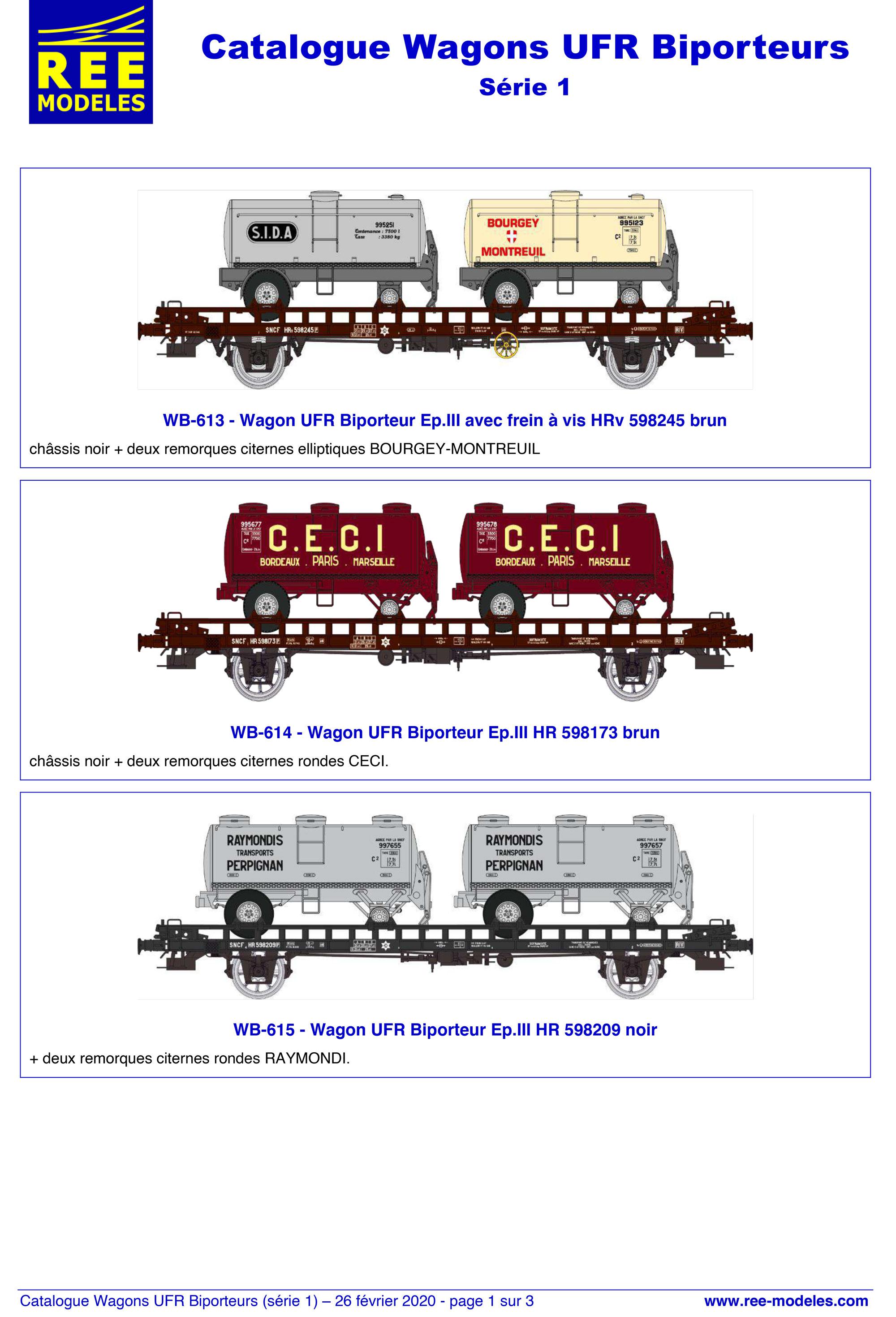 Rails Europ Express - UFR freight wagons