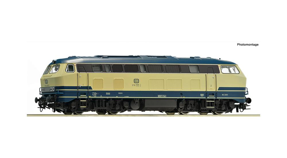 Diesel locomotive 218 218-6, DB