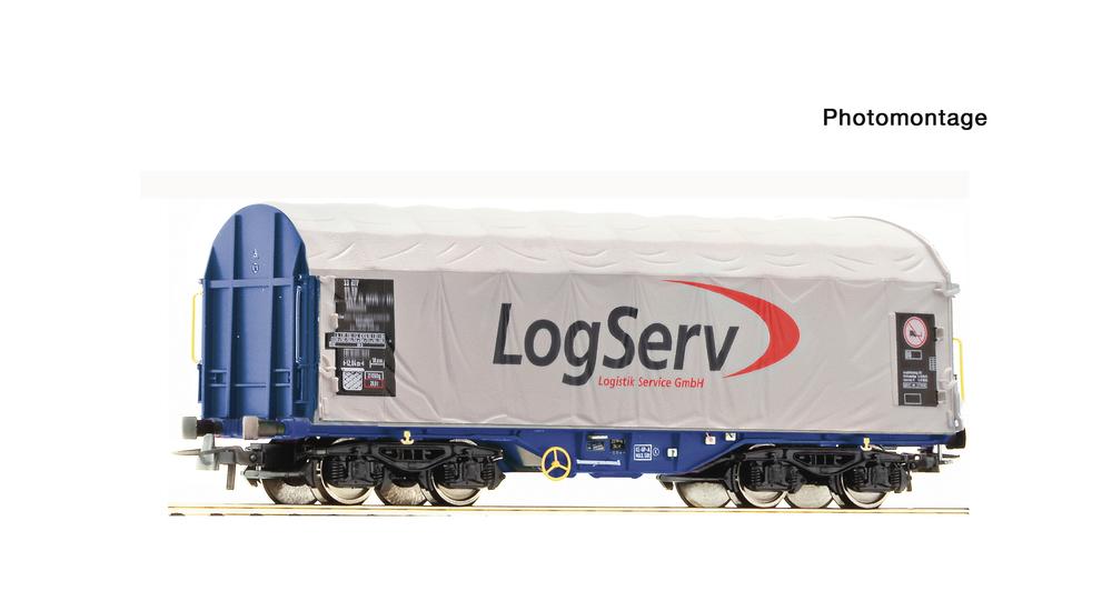 Slide tarpaulin wagon, LogServ