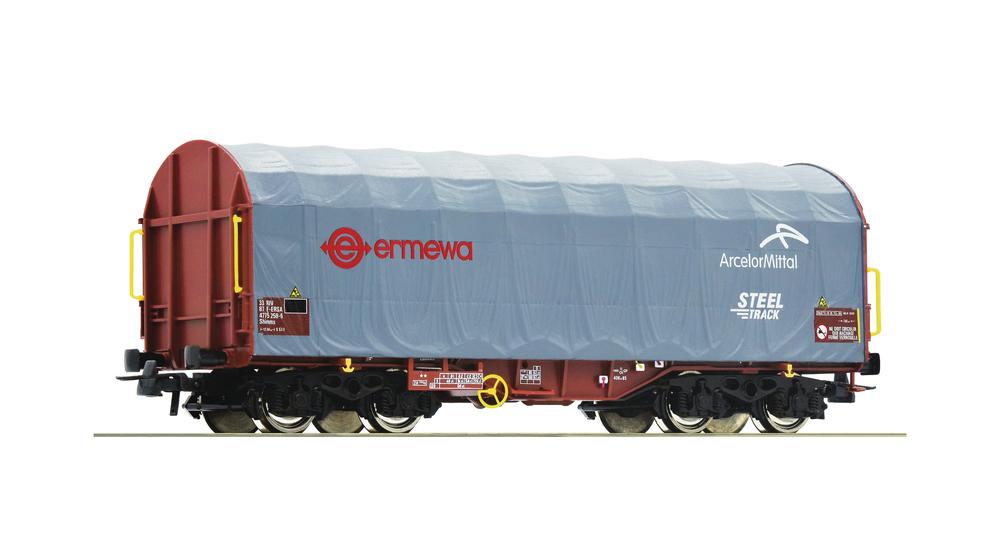 Slide tarpaulin wagon, ERMEWA