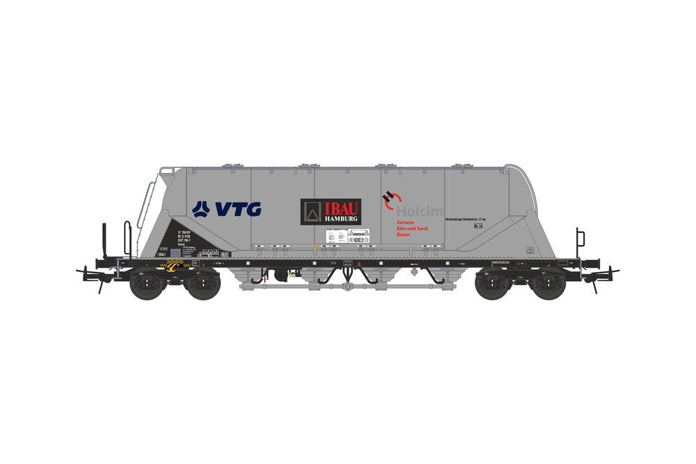 Silo wagon Uacns 82m³ (VTG - IBAU - Holcim)