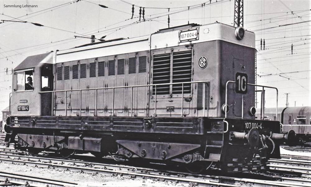 DR - BR 107 diesel locomotive