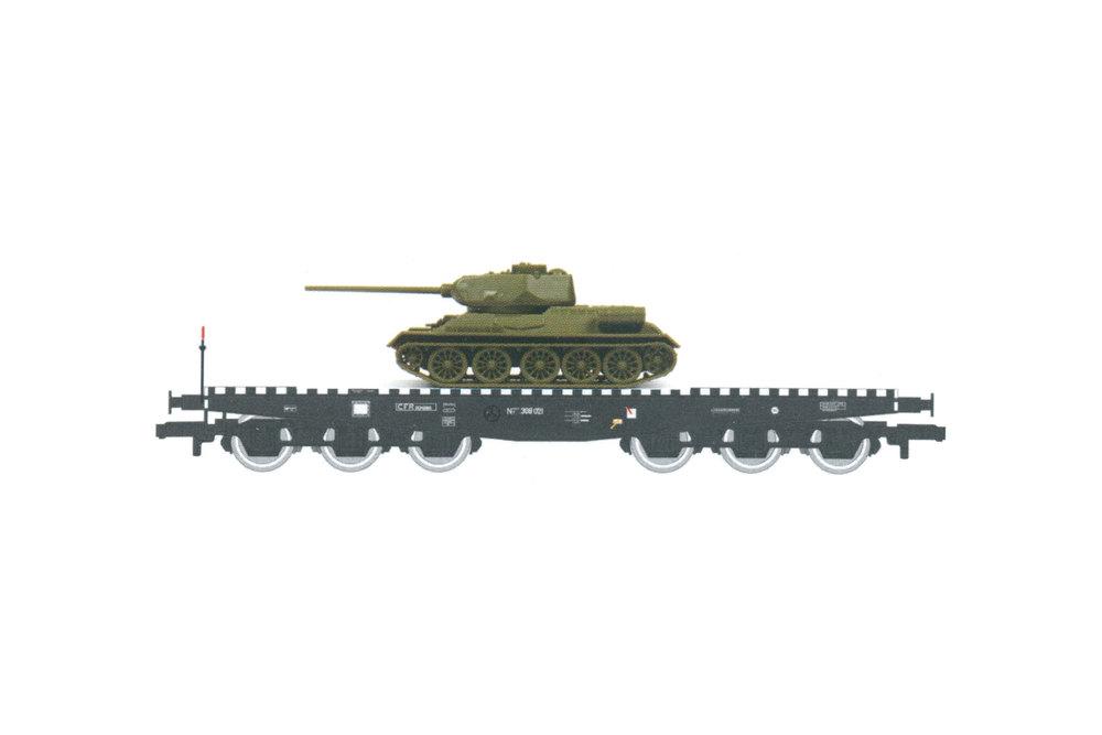 CFR - NT IISDFF flat wagon with T34 tank
