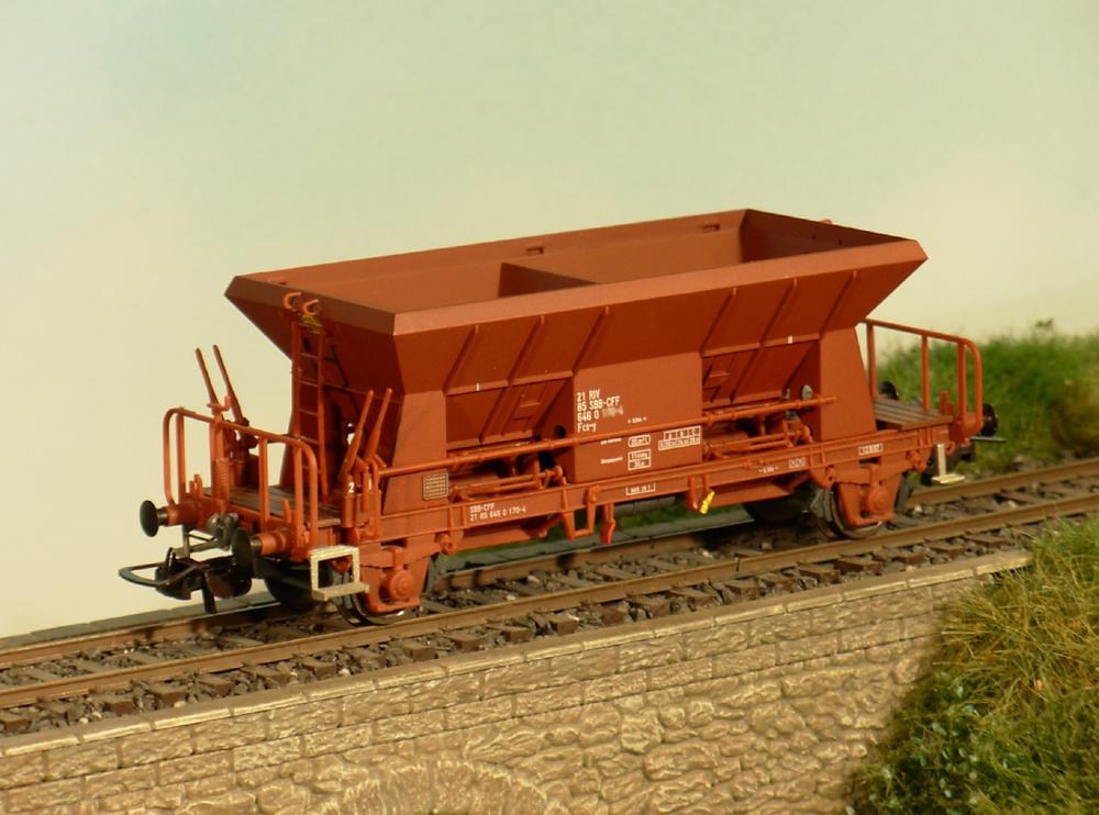 SBB CFF FFS - Fcs-y freight car