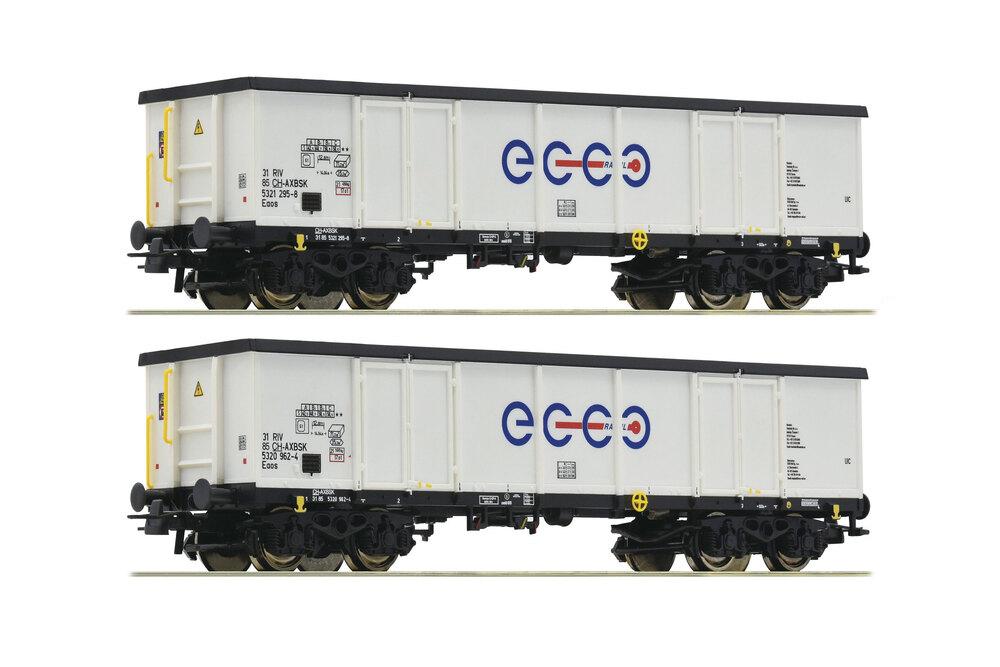 AXBENET / ECCO RAIL - 2x Eaos freight wagons