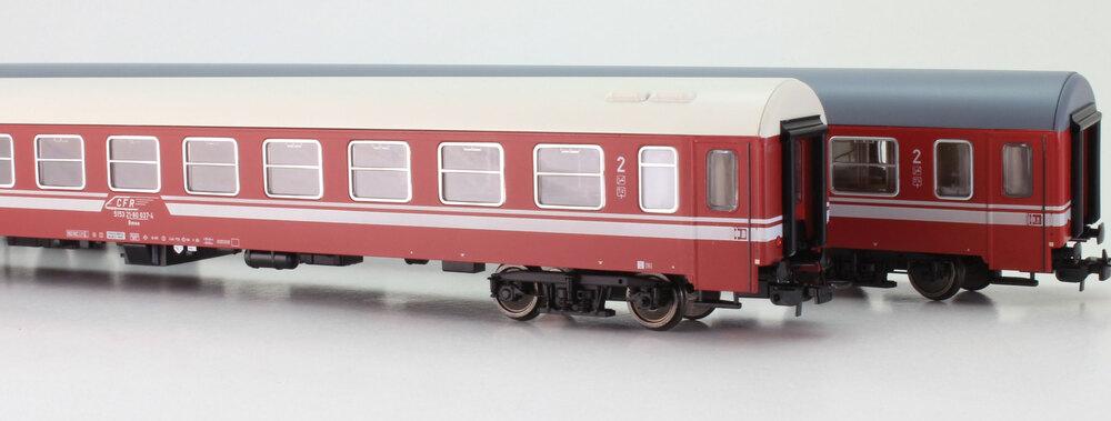 CFR - 3x Bmee 21-80 (UIC-Z2 - Bautzen type) passenger coaches set