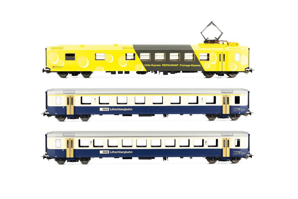 BLS - 1x A, 1x B EW I passenger coaches & SBB CFF FFS - 1x WR