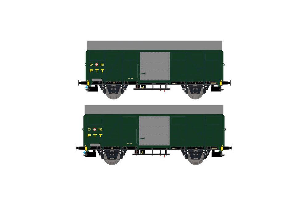 PTT - Zk 151 & 155 freight wagons