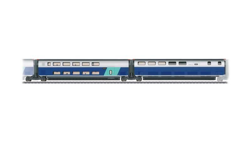 SNCF - TGV Euroduplex high-speed train car set #3