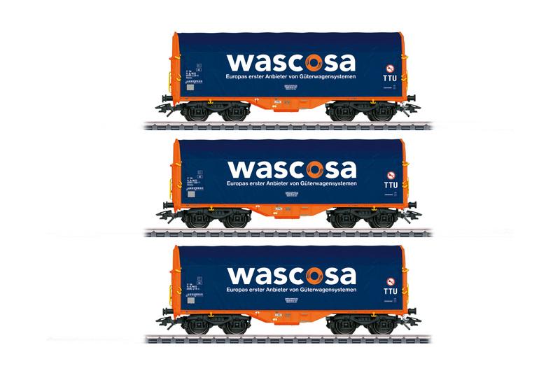 Wascosa - Shimmns four-axle sliding tarp freight cars set