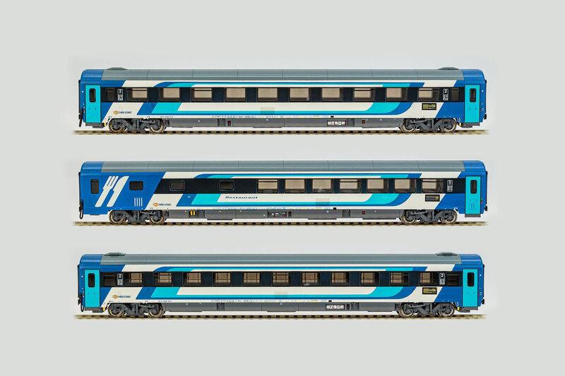 MÁV-START - 1x Bmz 21-91, 1x Bpmz 20-91 & WRmz 88-91 (EuroCity