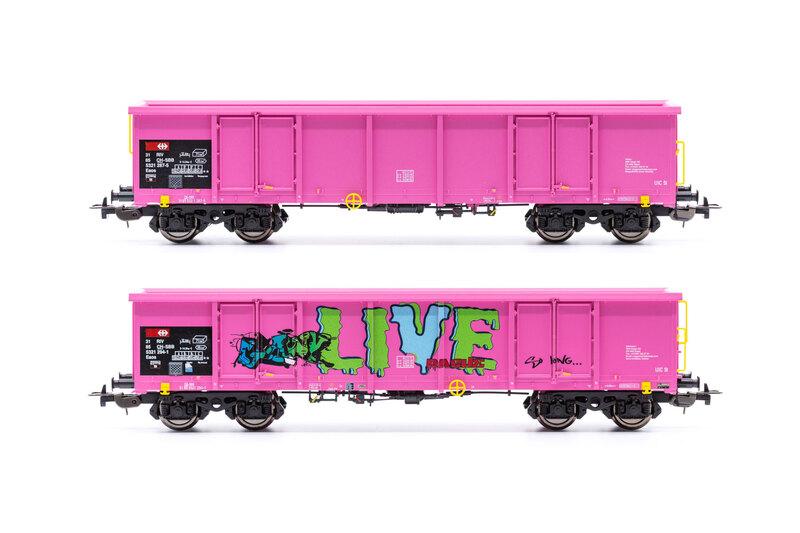 SBB CFF FFS - 2x Eaos freight wagons