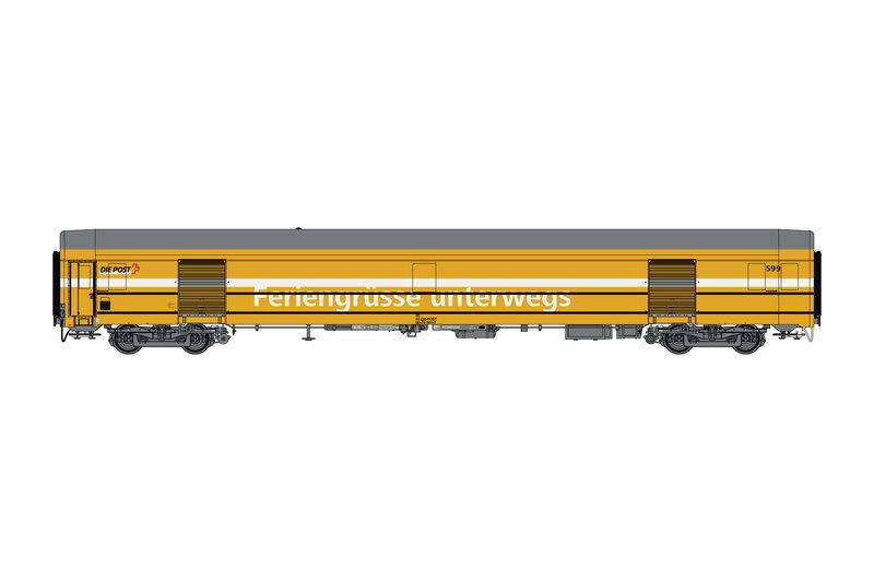 Swiss Post - Z 00-73 postal wagon