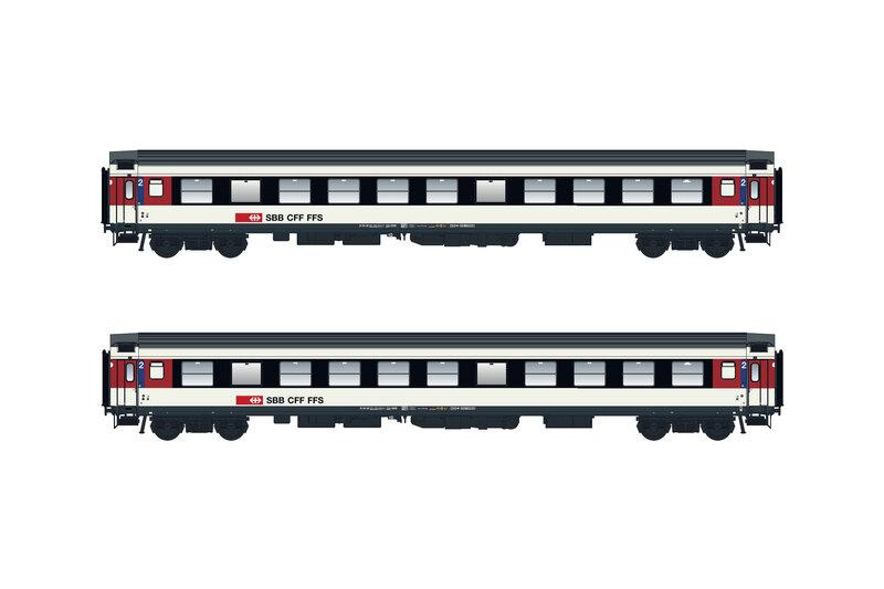 SBB CFF FFS - UIC-X RIC Bpm 2nd class passenger coaches