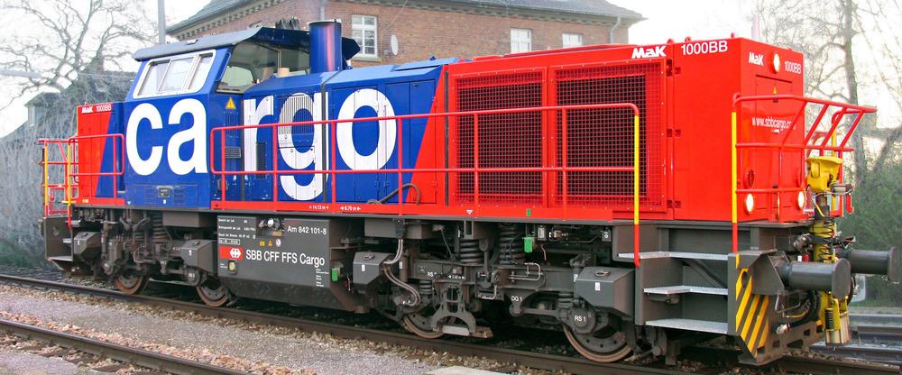 SBB Cargo - Am 842 diesel locomotive (Vossloh G 1000 BB)