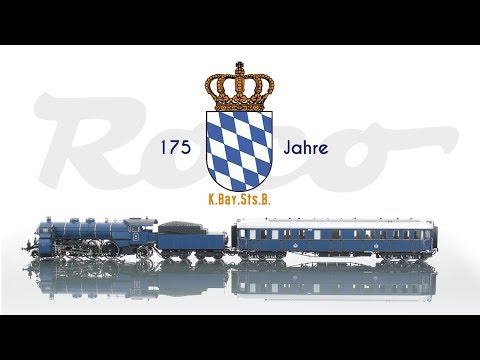 "Video: Roco 61471: K.Bay.Sts.B. - Steam locomotive S 3/6 and ""Prinzregenten"" coach"