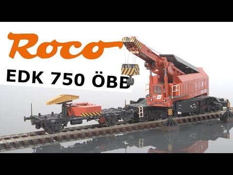 Video: Roco - EDK 750 railway crane presentation