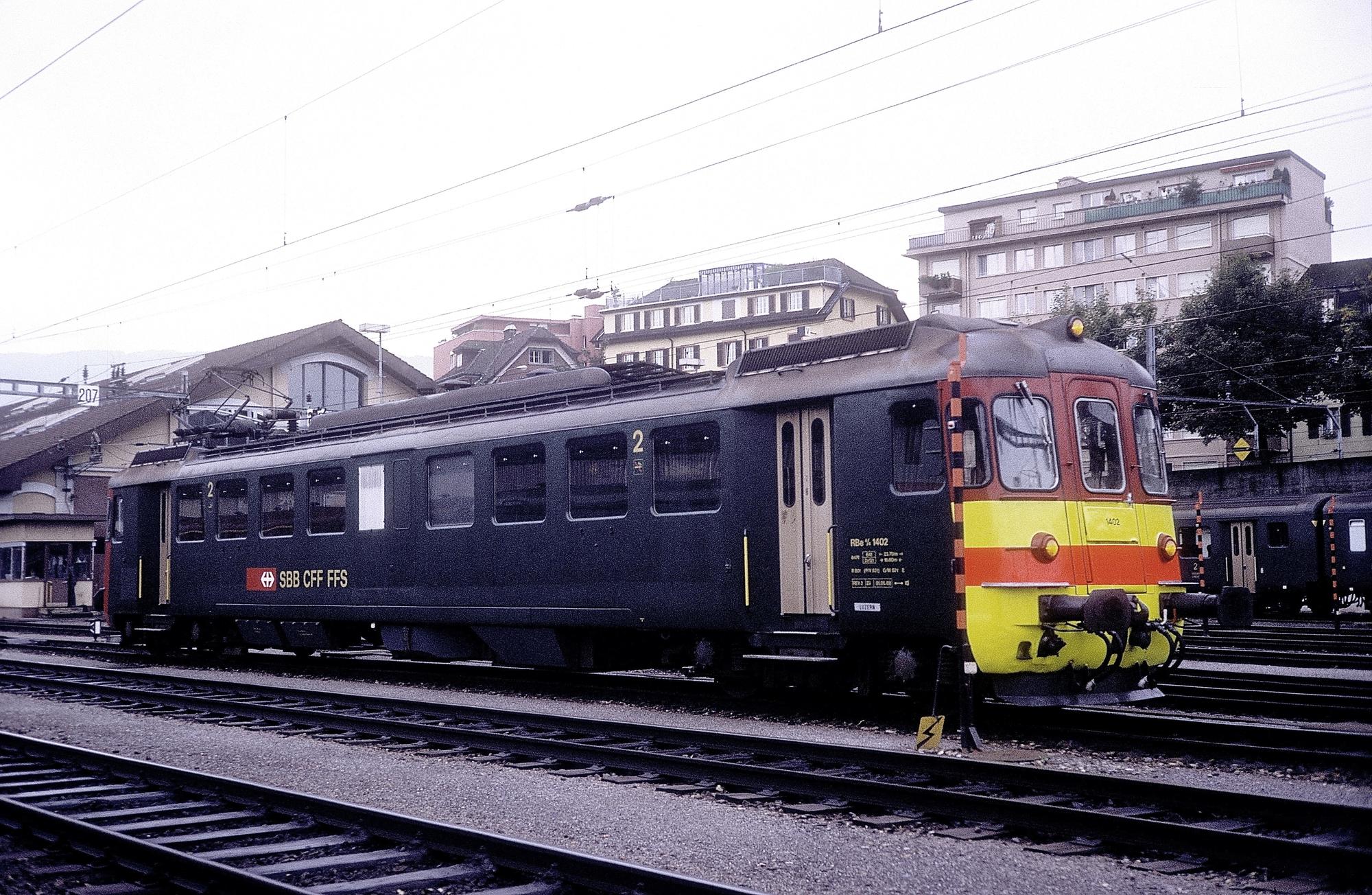 RBe 4/4 1402 in Luzern
