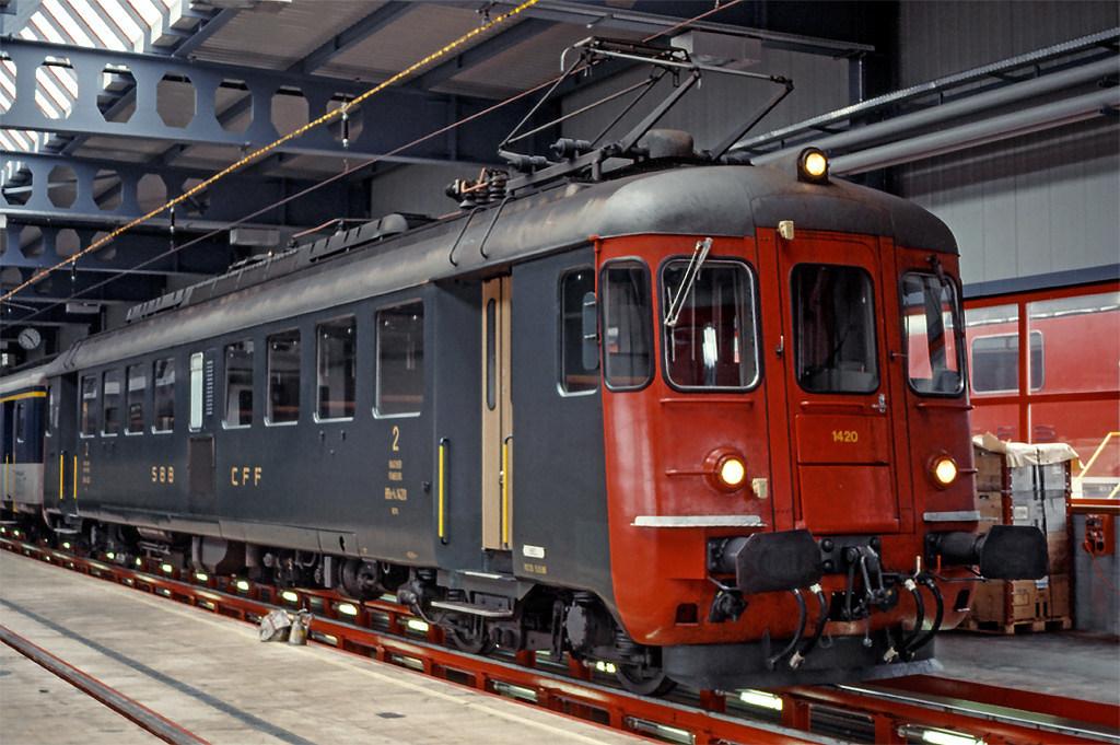 RBe 4/4 1420 in Biel/Bienne