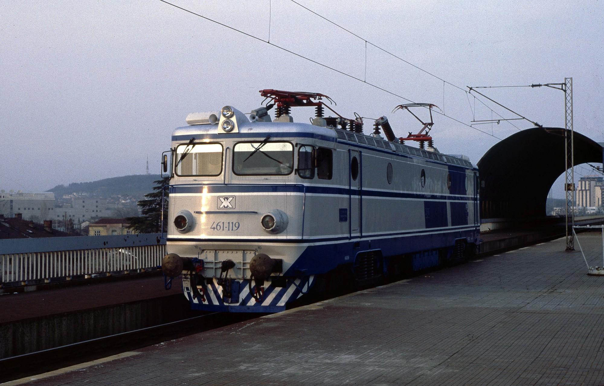 Class 461 119 in Skopje