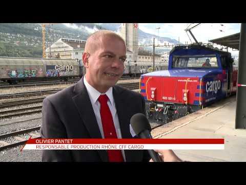 Video: Sion: A new Eem 923 shunting locomotive for SBB CFF FFS Cargo - Eem 923 021-0 Tourbillon