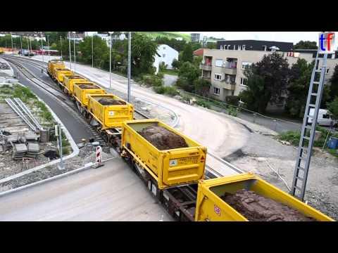 Video: Stuttgart 21 - AAE Sgns 7 freight cars