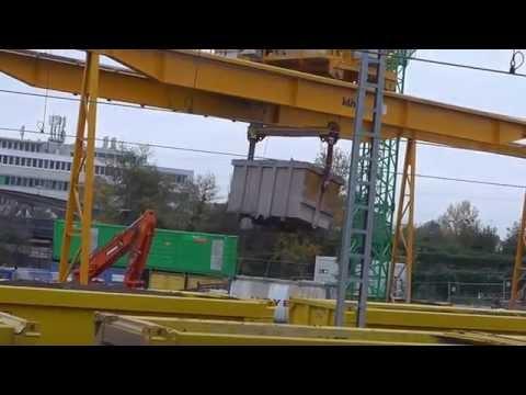Video: Stuttgart 21 - AAE Sgns 7 & VTG Sgmmns 40 freight cars