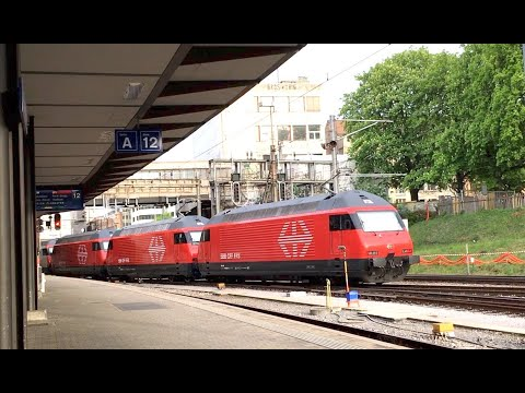 Video: 4 SBB Re 460 for one train