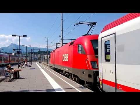 Video: ÖBB IC leaving Salzburg for Bregenz in Austria