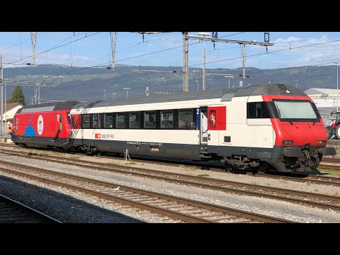 Video: SBB CFF FFS: Re 460 & Bt 28-94 trial run