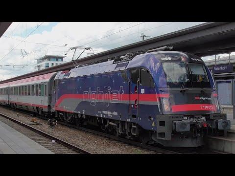 Video: ÖBB Taurus 1216 012 electric locomotive in Rosenheim